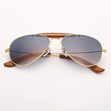 3422 outdoorsman artesanato aviação óculos de sol das mulheres dos homens  58mm piloto gradiente cinza óculos 59013d90a3