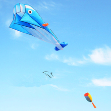 Высокое качество Большой Мягкий Дельфин воздушный змей Рипстоп нейлон уличные Игрушки Летающий Осьминог воздушный змей завод инопланетянин надувной
