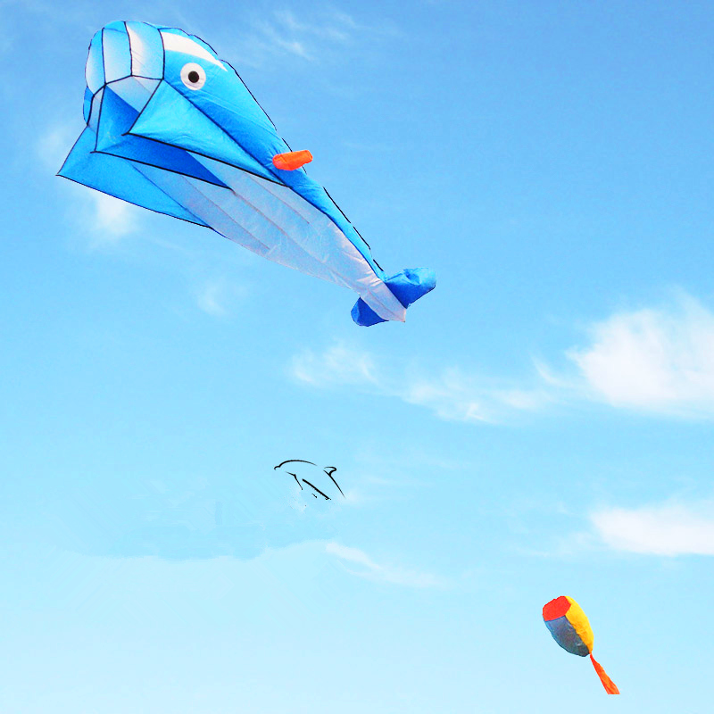 Free Shipping High Quality Large Soft Dolphin Kite Ripstop Nylon Outdoor Toys Flying Octopus Kite Factory Alien Inflatable