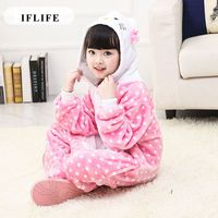 Pijama Infantil Onesie Hooded Kids Animal Cartoon Pajama Cat Dot Design Children Boy Girl Unisex Pyjama