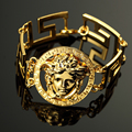 Europe United States New Fashion Gold-Plated Disc Medusa Bracelet Gold Tide Brand Men And Women Hip-hop Jewelry Accessories