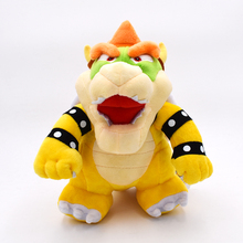 2017New 10″ 25cm Stand Super Mario Bros Bowser Koopa Plush Toy Stuffed Animal Dolls Toy Great Gift Free Shipping