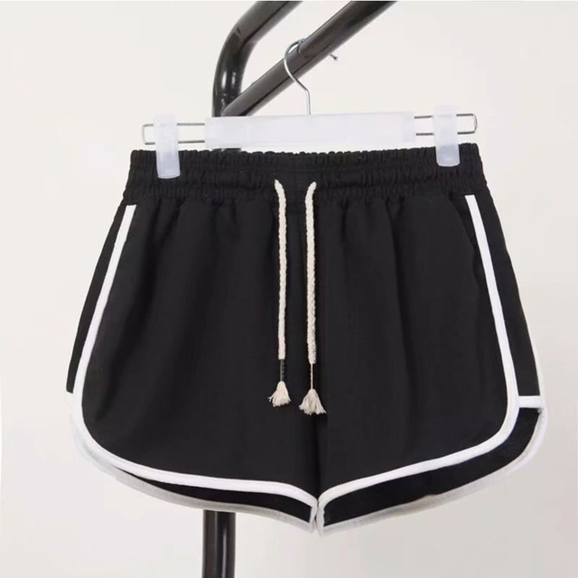 High Waist Booty Shorts Black White Loose Beach Sexy Short 1