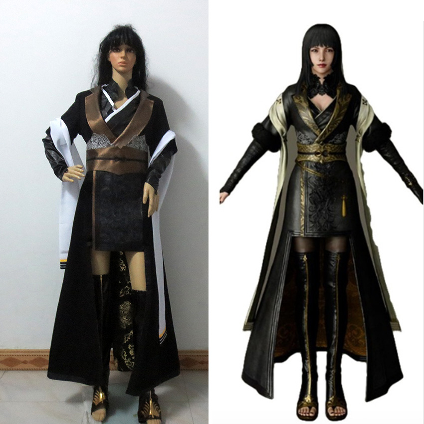 Final Fantasy XV Gentiana Cosplay Costume FF15 Women Dress Halloween Suit Custom Made Any Size