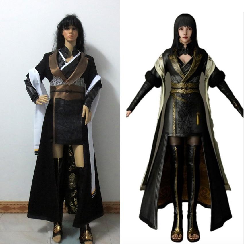 Final Fantasy XV Gentiana Cosplay Costume FF15 Women Dress Halloween Suit Custom Made Any Size