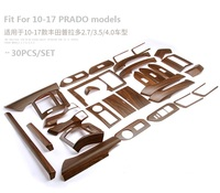 Car Interior Accessories Interior Moulding Trim for Toyota Land Cruiser Prado 150 LC150 FJ150 2014 2015 2016 2017 30pcs
