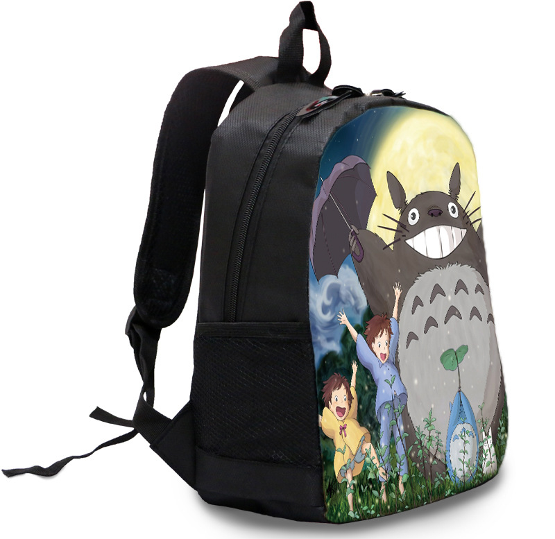 02cd0e232b Lovely kid backpacks school backpacks cute anime character Totoro backpack  Tonari no totoro black nylon backpacks NB027-in Backpacks from Luggage &  Bags on ...