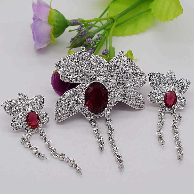 Un ensemble blanc rouge vert bleu couleur pendentif bricolage pour bijoux pendentif boucles d'oreilles crochet fermoir serrure FPPj - 2