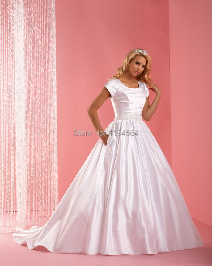 2015 princesa vestidos novia góticos Simple raso vestidos de novia ...