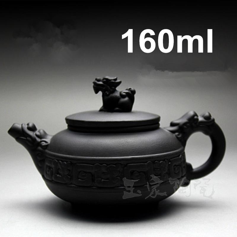 Hot Sale Purple Clay Handmade Teapot 160ml Yixing Kung Fu Tea Pot Set Teapots Chinese Zisha Ceramic Sets Porcelain Kettle