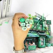 Finecolour EF100 Double Headedหมึกแอลกอฮอล์SketchชุดปากกาMarker Manga Drawing Art Markers