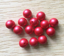 (choose size) 12mm/16mm/20mm red color Acrylic Matte pearls Beads for Colorful Chunky Beads Necklace Jewelry(China)