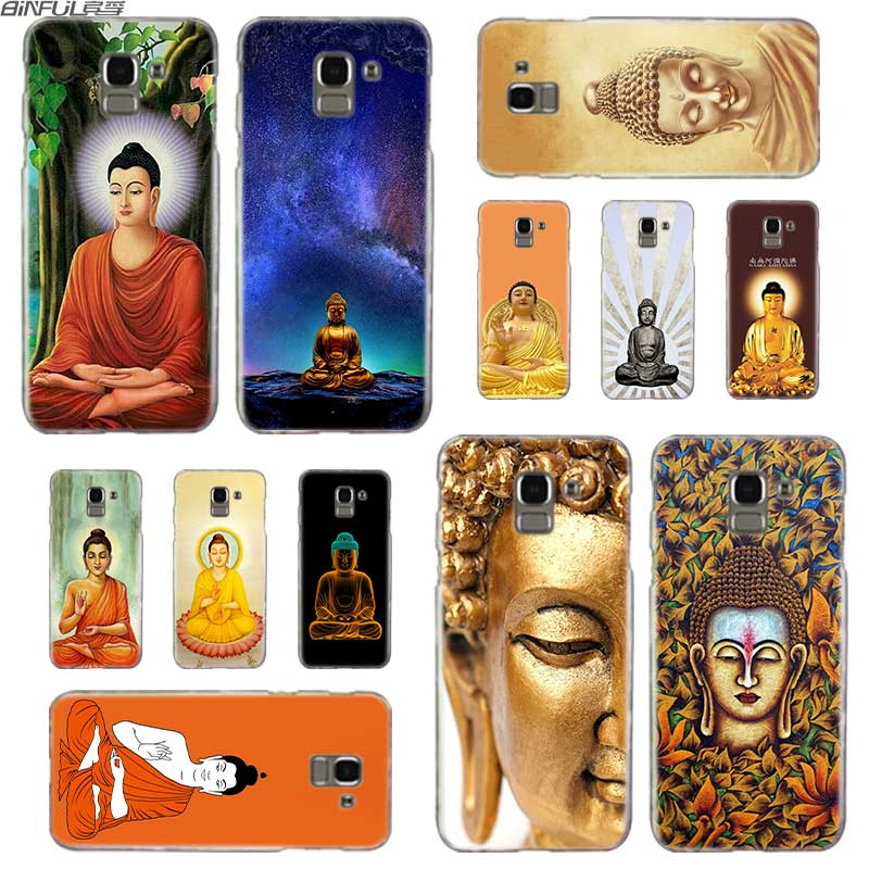 BINFUL Transparent hard case for Samsung J3 J4 J5 J6 J7 J8 2015 2016 2017 EU 2018 Prime Max Buddha Siddhartha Gautama Shakyamuni