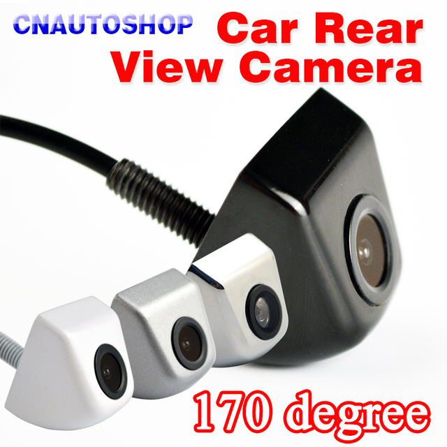 Car Rear View Camera 170 Degree Mini Waterproof Infrared Black White Silver Chrome Auto Parking Assistance Back HD CCD Wire