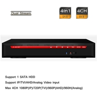 4CH Stand Alone HD 1080P 720P 960H Hybrid DVR NVR HDTVI AHD IP Analog Input