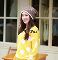 Newly Korean style Autumn and Winter woolen hat free shipping women cute Beanie Knitted Caps Crochet Hats