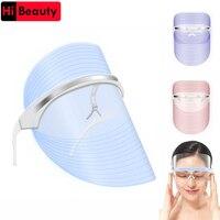 Photodynamic Facial Beauty Instrument Colorful LED Light Therapy Face Mask Anti Acne Skin Rejuvenation Removal Beauty