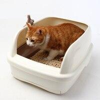 Полу закрытые судно домашних кошек ящик для мусора маленький уголок Туалет кошачий Туалет сумка комплект Pet помет Training Arena Gato Pet код 90Z2103