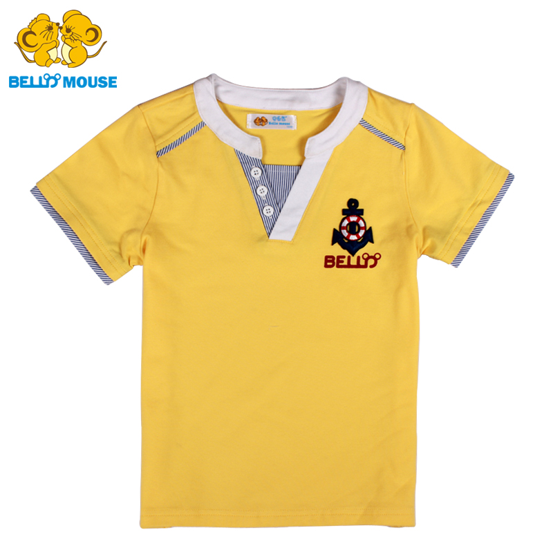 Bello Mouse top grade fashion Boys short sleeve T shirt kid son handsome Tshirts summer Children
