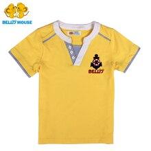 Bello Souris haut grade de mode Garçons à manches courtes T-shirt enfant son' beau T-shirts d'été Enfants new sport shirt 100% Coton