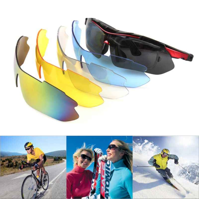 12b84c94470 Fishing Eyewear Riding Cycling Glasses Flexible Detachable Temples  Interchangeable lenses Polarized Outdoor Sports Sunglasses