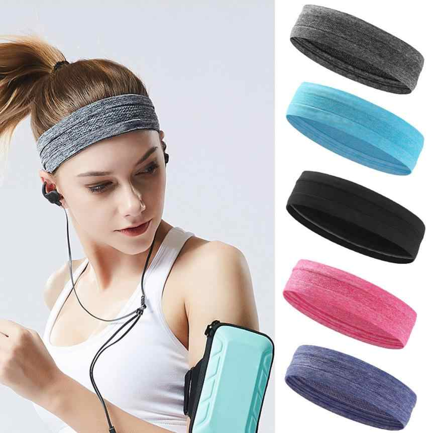Unisex Sport Sweat Sweatband Headband Yoga Gym Stretch Head Band Hair Bands BL
