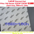Free Shipping + Best Thermal Silicon Pad 23CM*23CM*0.5MM, Tflex 700 Series Gap Filler Material, Made In USA