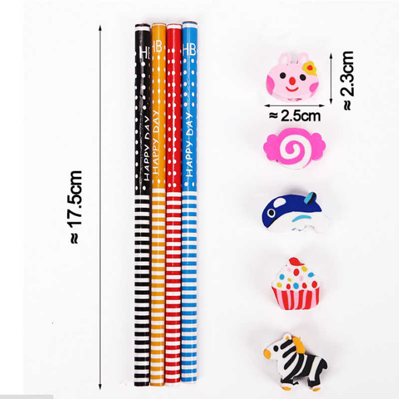 10 قطعة/المجموعة الإبداعية الكرتون Kawaii كوريا الجدة أقلام القياسية للأطفال الأطفال القرطاسية المدرسية
