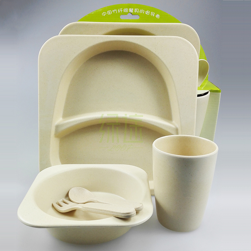 New bamboo fiber dinnerware totally 100% degradable safe tablewares children\u0027s lunch box pure color child cutlery set for kid-in Mugs from Home \u0026 Garden on ... & New bamboo fiber dinnerware totally 100% degradable safe tablewares ...