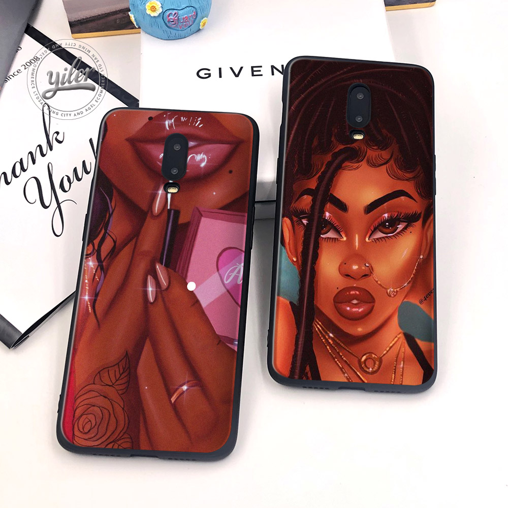 Image 2 - Black Girls for Case Oneplus 6T Phone Cover Black Soft TPU Case for Oneplus 7 Caseing Black Girls for Casing Oneplus 6T Cover-in Fitted Cases from Cellphones & Telecommunications