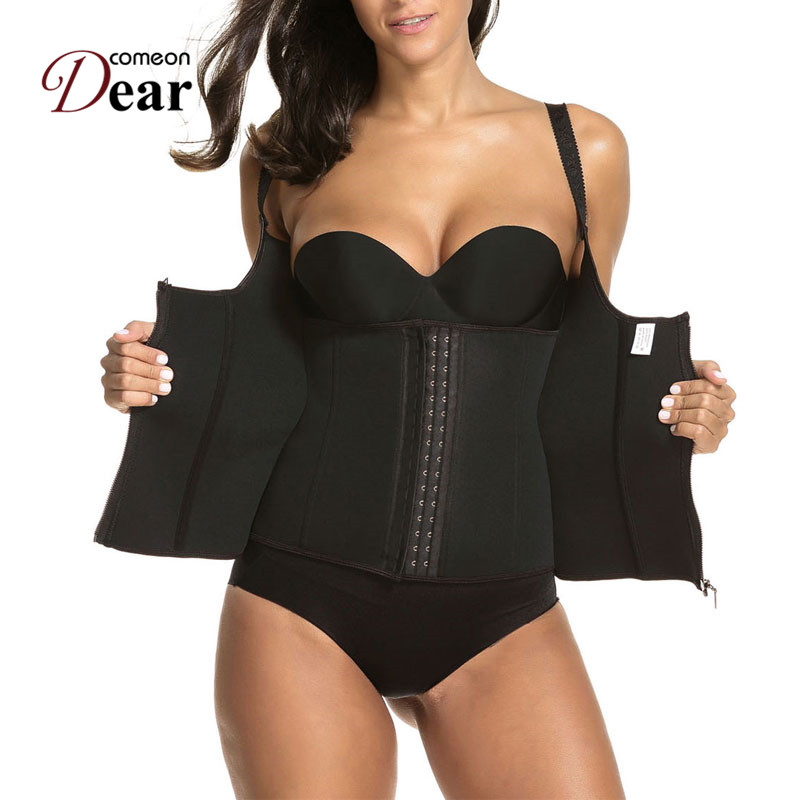 Comeondear Ropa Gotica Para Mujer Lingerie Sexy Et Coquine Gothic Clothing AB2246 Neoprene Waist Corsets and Bustiers