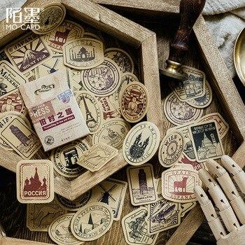 45 sztuk/pudło w stylu Vintage wiatrak budynku mini dekoracja dekoracja z naklejek papierowych album diy pamiętnik scrapbooking naklejki etykiety kawaii
