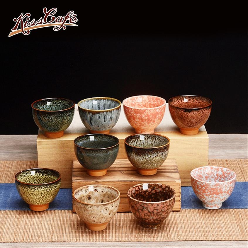 6 Pcs/set Chinese Ceramic Tea Cup Ice Cracked Glaze Cup Kung Fu Teaset Small Porcelain Tea Bowl Teacup Tea Accessories Drinkware