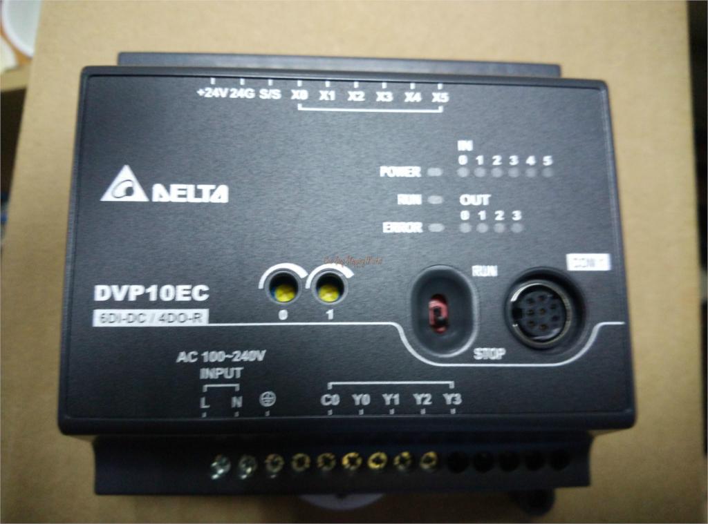ФОТО New Original EC3 series Programmable Controller Module 10-point 6DI 4DO NPN transistor DVP10EC00T3 100-240VAC