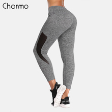 Charmo Women Yoga Pants Slim High Waist Sports Outdoor Running Gym Fitness Elastic Trousers Breathable Sport Wear Legging