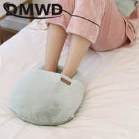 DMWD USB Electric Foot Warmer Heating Pad Slippers Shoes Chair Soft Warm Cushion Winter Feet Leg Thermostat Heater Blanket Mat