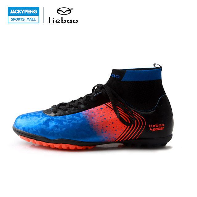 TIEBAO 2017 New Professional Outdoor Soccer Shoes Men Women TF Turf Sole Boots Football Shoes Adults Athletic Training Shoes