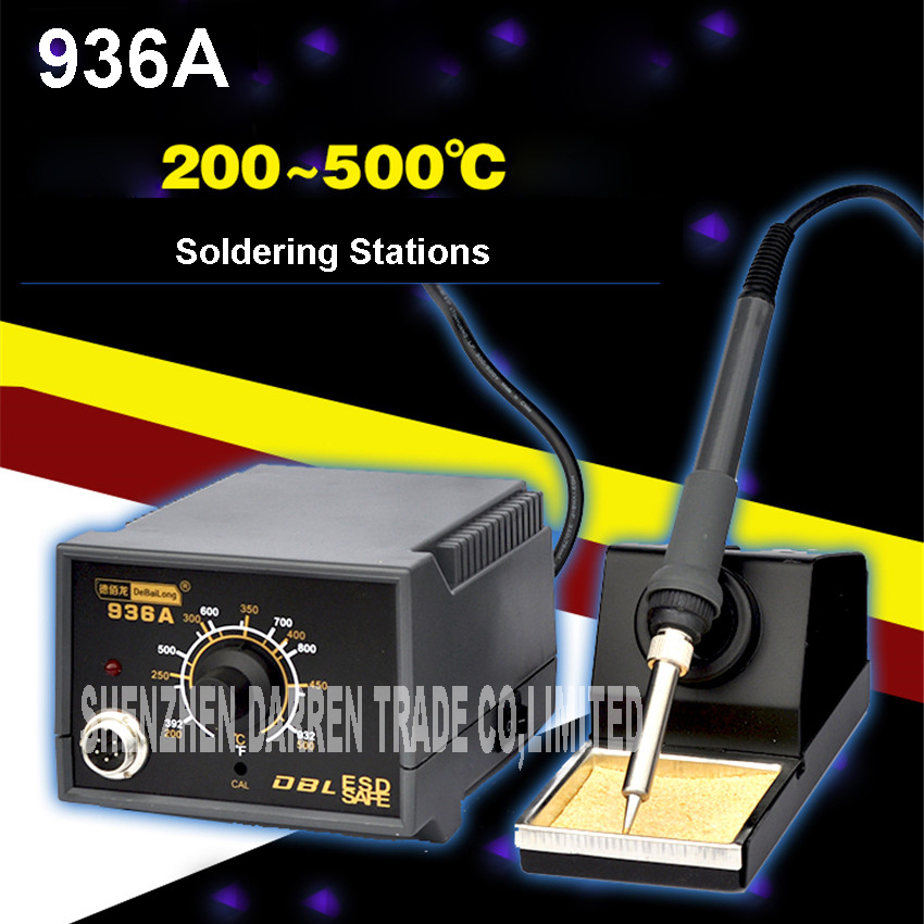 где купить 60W Hot Air Gun 936A Soldering Station LED Digital Desoldering Station Iron Tool Solder Welding 220V/110V 900M-T-B round по лучшей цене