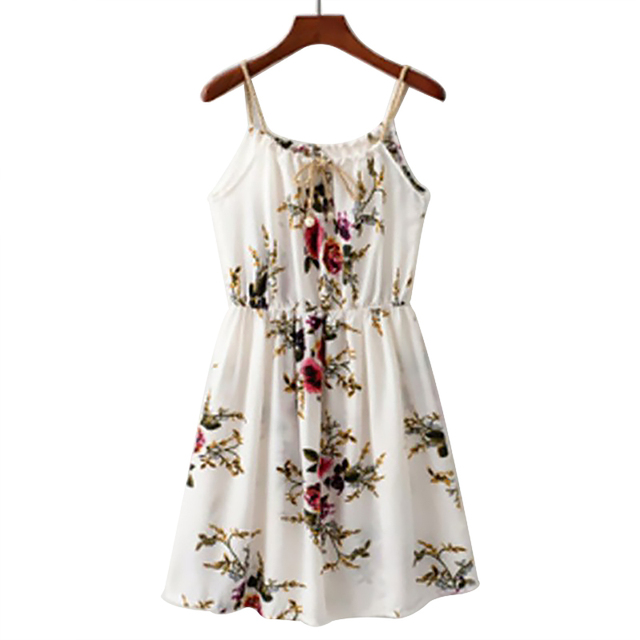 newly casual women print floral baby doll dress spaghetti strap ...