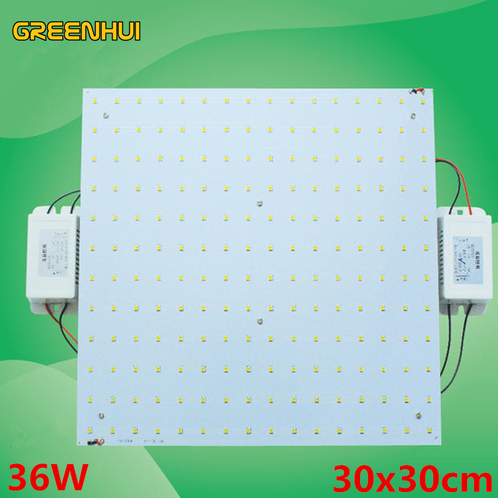 ФОТО 36W 30cm*30cm Square Surface Mounted Led Ceiling Lights Panel Lights Led Magnetic Aluminum Panel Board Lights with Dual drive