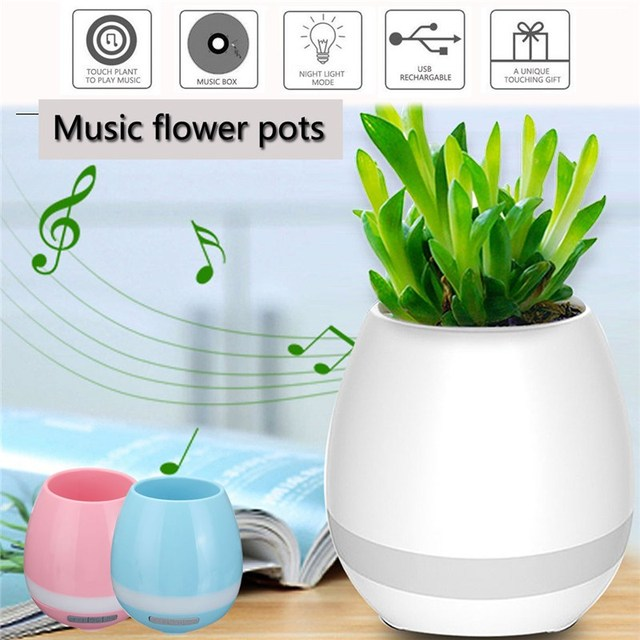 Music Vase Smart Wireless Bluetooth Music Speaker Potted Plants Toys