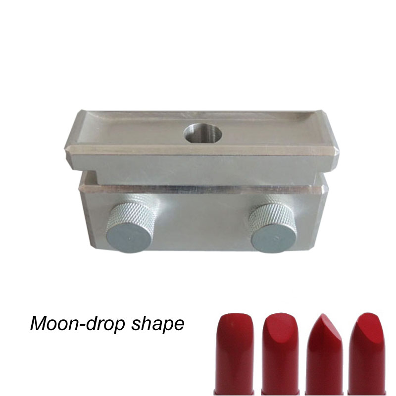 Moondrop Shape Single 1 Cavity aluminum Lipstick fill Mold, lipstick mould, lipbalm filling mould 12.1mm 12.7mm low noise terminal crimping machine 1 5t with vertical mold or horizontal mold or single grain mold