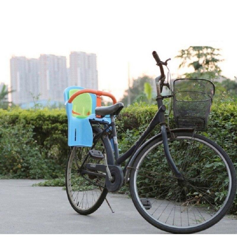 Children bicycle safety seats high-quality green plastic Road bike folding bike kids baby back seat mat