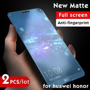 2 sztuk/partia matowa folia na ekran na Honor 8 9 10 lite zagraj 8x szkło hartowane dla Huawei P 30 10 20 Pro folia ochronna