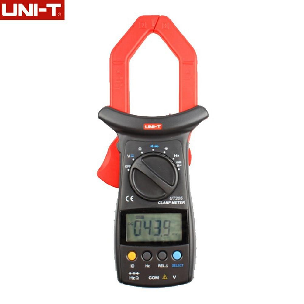 Professional UNI-T Digital Clamp Multimeters Auto Range Capacitancy 1000A 600V Clamp Meter Unit Ammeter Voltmeter UT205  цены