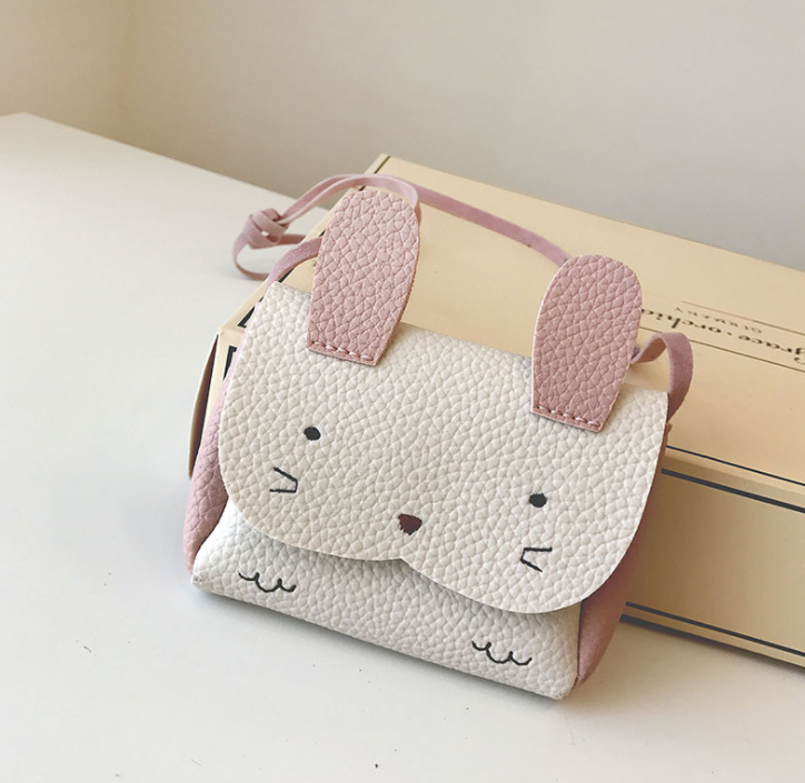 2018 New Hot Sale Girls PU Coin Purse Bag Wallet Kids Rabbit One Shoulder Bag Small Coin Purse Change Wallet Kids Bag(China)