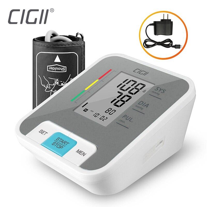 Cigii casa salud pulso herramienta de medición portátil LCD digital superior Monitor de presión arterial de brazo 1 piezas Tonometer
