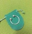 Envío gratis silver loverly simple doble abierto bola llavero para mujeres hombres Unisex de bellas moda venta al por mayor de moda de jewerly