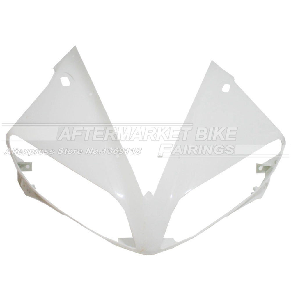 100% Virgin ABS Plastic Front Fairing Head For Yamaha YZF R1 2004 2005 2006 04 05 06 Upper Fairing Nose Cowling NEW mfs motor motorcycle part front rear brake discs rotor for yamaha yzf r6 2003 2004 2005 yzfr6 03 04 05 gold