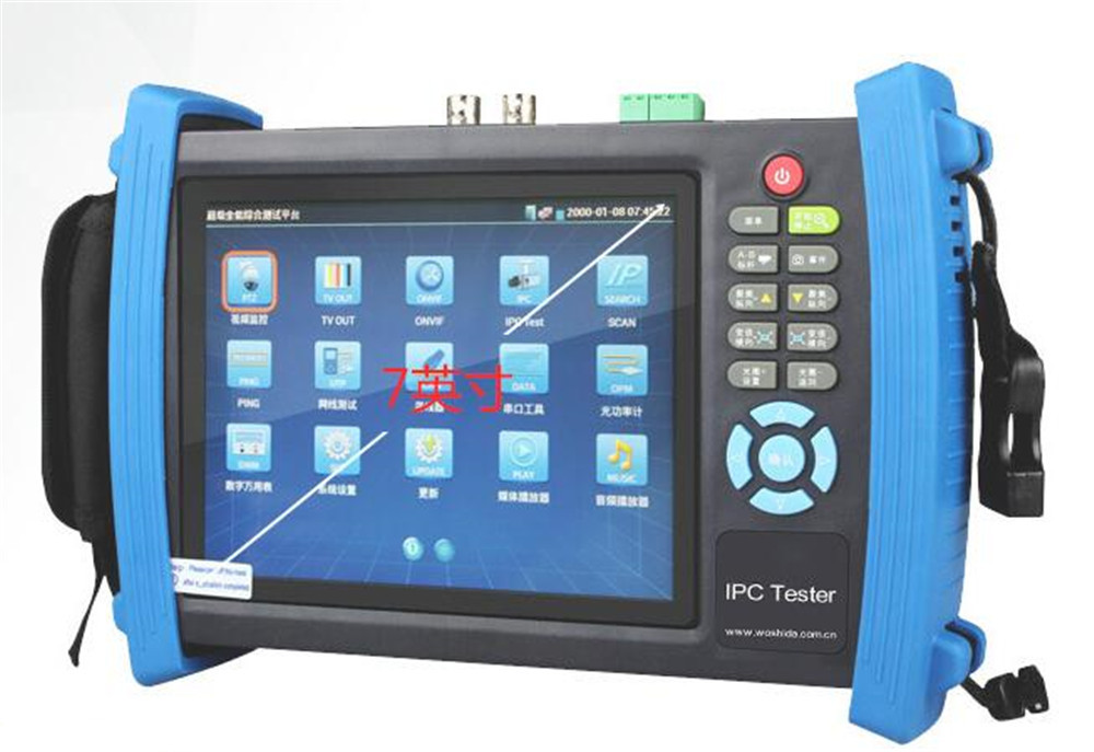 CCTV IPC Camera Tester 7 Inch Touch Screen Built-in WIFI  PoE PTZ IP Camera ONVIF Monitor Test HDMI IPC8600 7 ip camera cctv tester poe wifi dm optical power meter visual fault locator tdr sdi ipc 8600movts